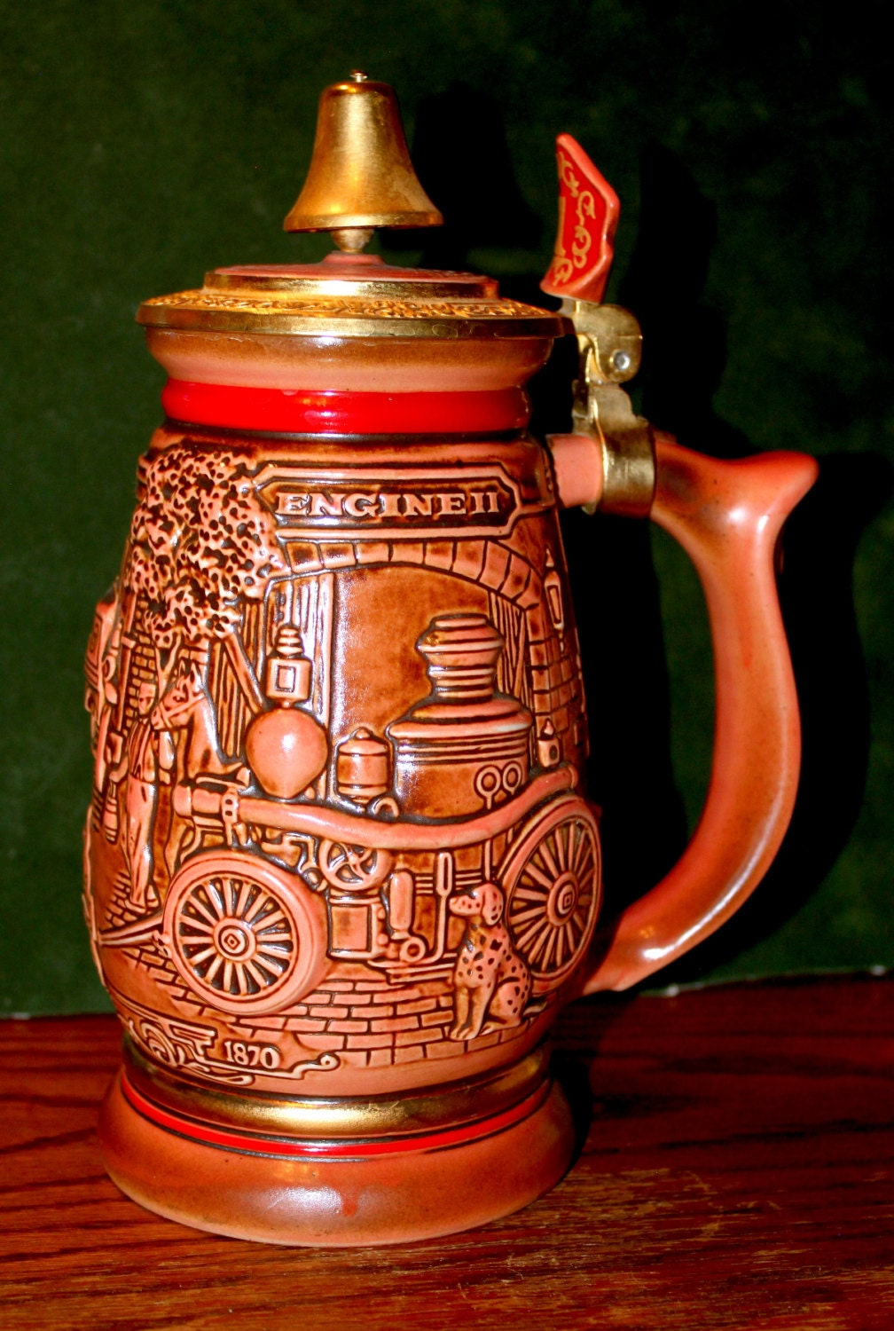 Avon Tribute To American Firefighters Beer Stein Collectible