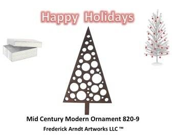 820-9 Mid Century Modern Christmas Ornament