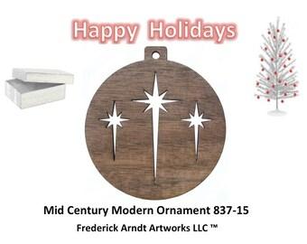 837-15 Mid Century Modern Christmas Ornament