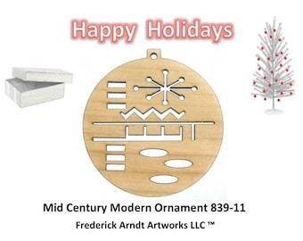 839-11 Mid Century Modern Christmas Ornament