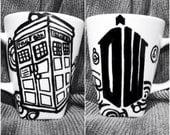 Doctor Who Tardis Mug and logo