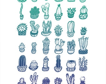 Cactus Garden Print