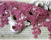 """Lace Trim Venice Floral Pattern Lace for Bridal, Costumes, Sashes, Sewing, Altered Art, Couture Gowns, Crafts approx. 4.25"""" LA-183"""