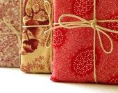 Fabric Wrapped Soap // Cherry Edition // Choose your Soap and Fabric // Stunning Gift