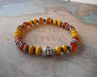 Tibetan silver buddha bracelet