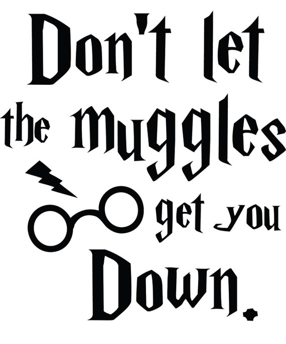 Items Similar To Don T Let The Muggles Get You Down Harry