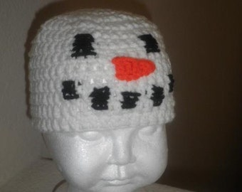 Snowman crocheted hat (baby-toddler size)