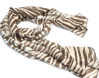 Fashion Jewelry Coffee Zebra Scarf Shawl Sold Per Piece