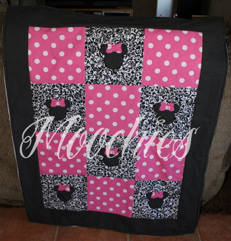 Minnie Mouse Inspired Quilt By Mymoochies On Etsy