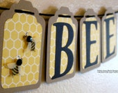 Mommy to Bee Baby Shower Banner Bee Themed Bunting