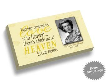 Memorial Canvas Print - In Loving Memory - Someone we Love is in Heaven