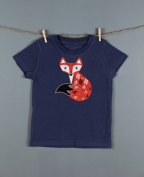 Fox Toddler Shirt,  Woodland Fox Kid's Tshirt,  Cute Kid's Animal Tees, Children's Clothes by Feather 4 Arrow