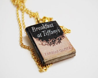 Breakfast at Tiffany's mini book necklace