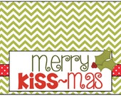 """personalized """"merry kiss-mas"""" labels"""