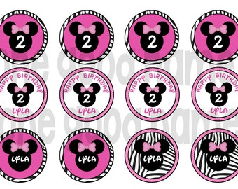 Minnie Mouse cupcake toppers/favor tags