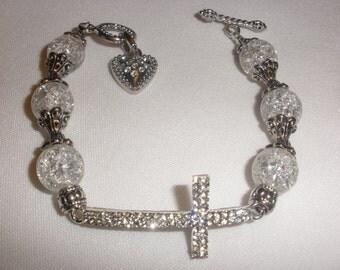 Rhinestone Cross Bracelets
