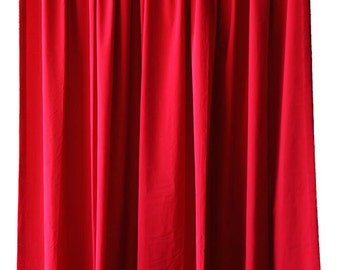 Elegant Cherry Red Velvet 84 Inch Curtain Long Panels Custom Made Home Decor Living Room Bedroom