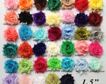 "1.5 "" shabby  chiffon flower   trim, headband, hair accessories, decoration , fabric"