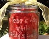 Deployment Jar for children -  Daddy Kisses Jar - UnCorkdArt