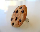 Miniature cookie ring, kawaii food ring, polymer clay statement ring