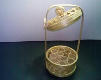 Basket shape food carrier  and 10 tiny basket.
