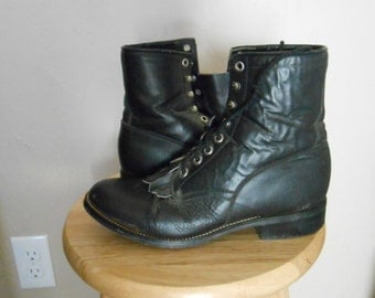 70's Justin lace up boots