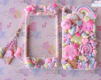 Kawaii Decoden Case - Sweet Cookies Friend case  - Super cute kawaii full body front back case iphone 4/5/5s/6/6s/7 galaxy s3/s6/s7