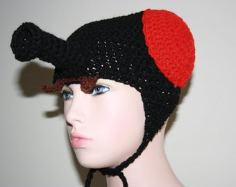 The Fly 'Inspired' Crochet Earflap Hat. Insect.