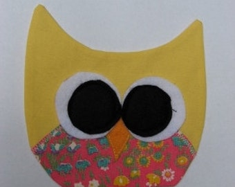 Owl keep you warm - Yellow and pink