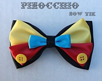 pinocchio clip on bow tie