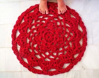 PDF pattern crochet red rag rug