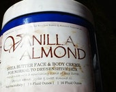 Vanilla Almond Shea Butter Face & Body Cream 16oz - storewide flat rate ship US only