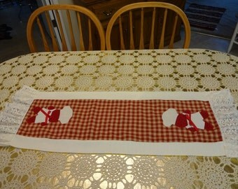 Hand Made Gingerbread Table Runner,,Gingerbread Decor, Country Decor, Kitchen Decor,,,,