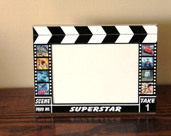 Disney Pixar Characters Hollywood Clapboard Picture Frame