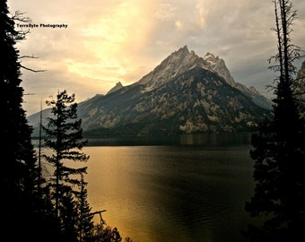 Fine Art Photography Home Decor Tetons Jenny Lake Sunrise
