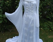white goddess bespoke  Fantasy gown  renaissance medieval pagan Celtic handfasting gown / dress 8 to 14