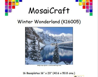 MosaiCraft Pixel Craft Mosaic Art Kit 'Winter Wonderland' (Like  Mini Mosaic and Paint by Numbers)