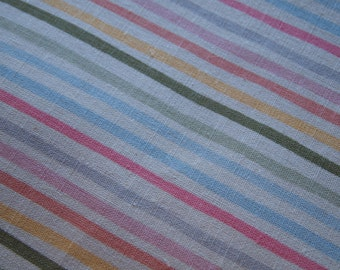 1 Yard of Pastel Candy Stripe Linen