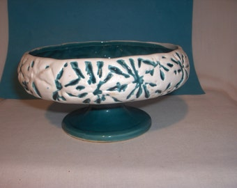 INARCO PEDESTAL DISH Teal Blue Unusual