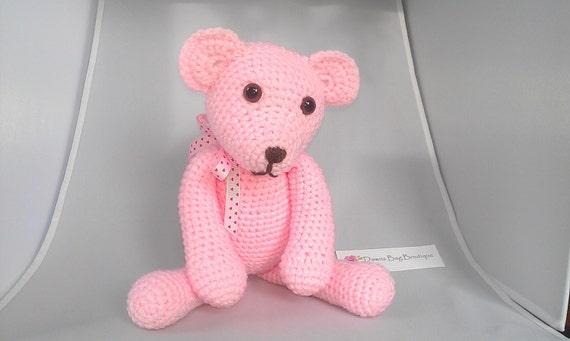 Amigurumi Pink Bear : Pink Crochet Amigurumi Teddy Bear