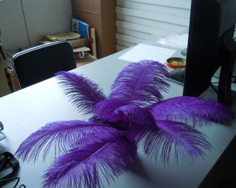 100pcs/lot Purple Ostrich Feather plumes for wedding table centerpiece wedding decor