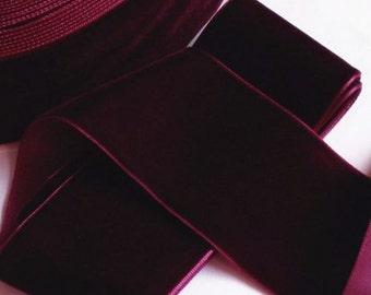 3 yards 2 inches Velvet Ribbon in Wine RY20-238