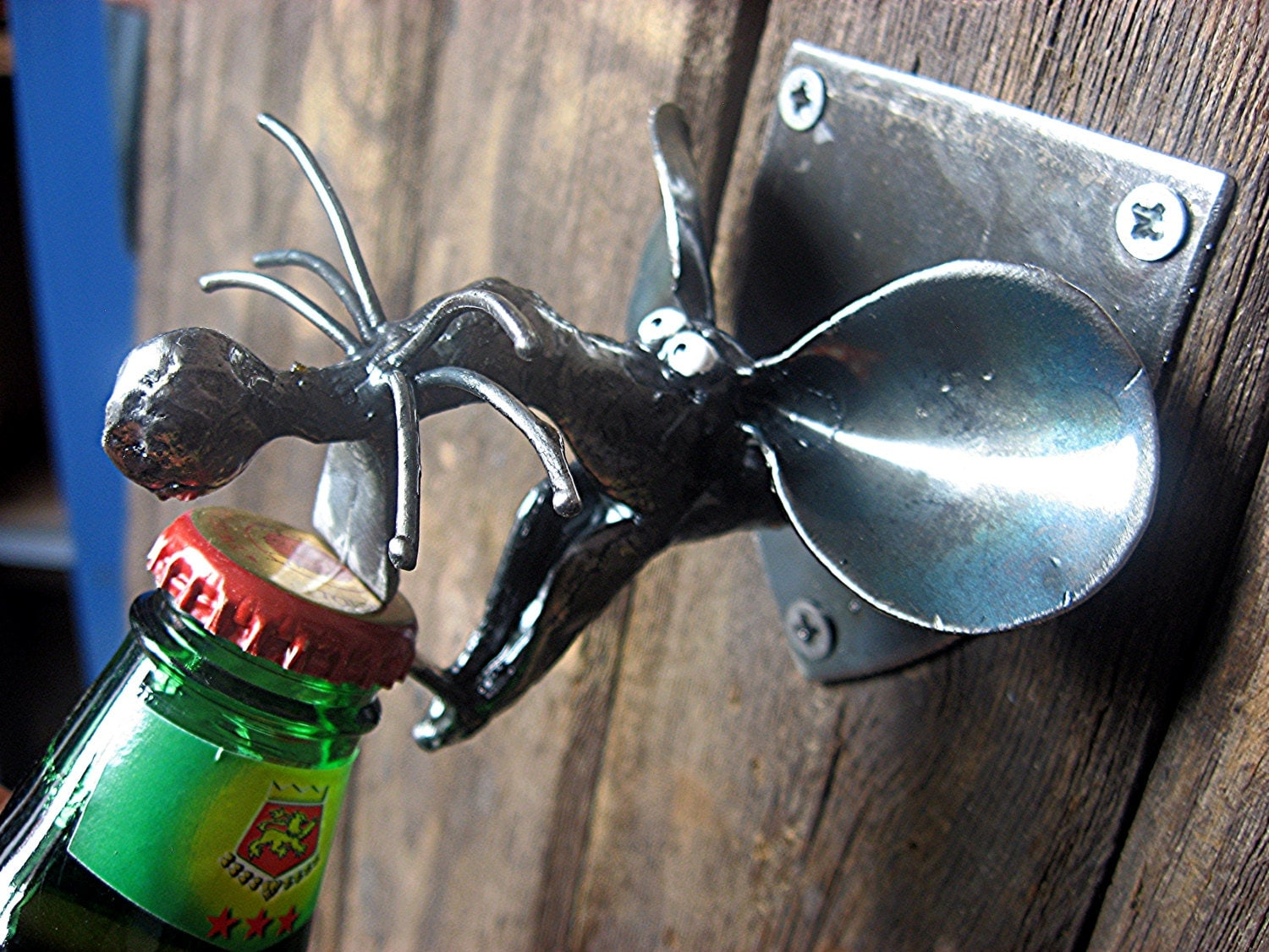 Rat bottle opener wall mounted and handmade from recycled zoom amipublicfo Image collections