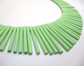 Jade Green Sunbeam Necklace - Paper Necklace
