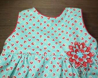 Blue Floral Dress Size 3T
