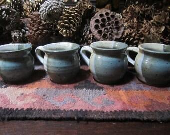 1991 Vtg. Handmade Set Of Four Mugs