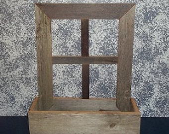Handcrafted Window Frame Planter Made with Century Old Recycled Barn Wood