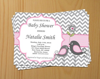 Girl Baby Shower Invitation Baby Girl Shower Invitation Baby Shower invitations Baby Shower Invites - FREE Thank You Card - Instant Download