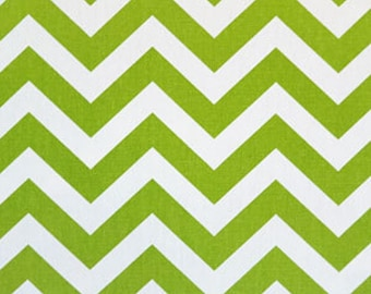 50 inch Curtains Drapery Panels Chartreuse Green and White Zig Zag Chevron Print Curtains Premier Prints