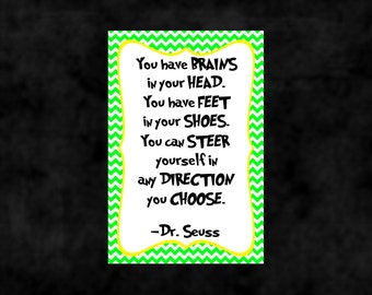 Dr. Seuss Quote Print - Classroom poster or nursery print - digital download